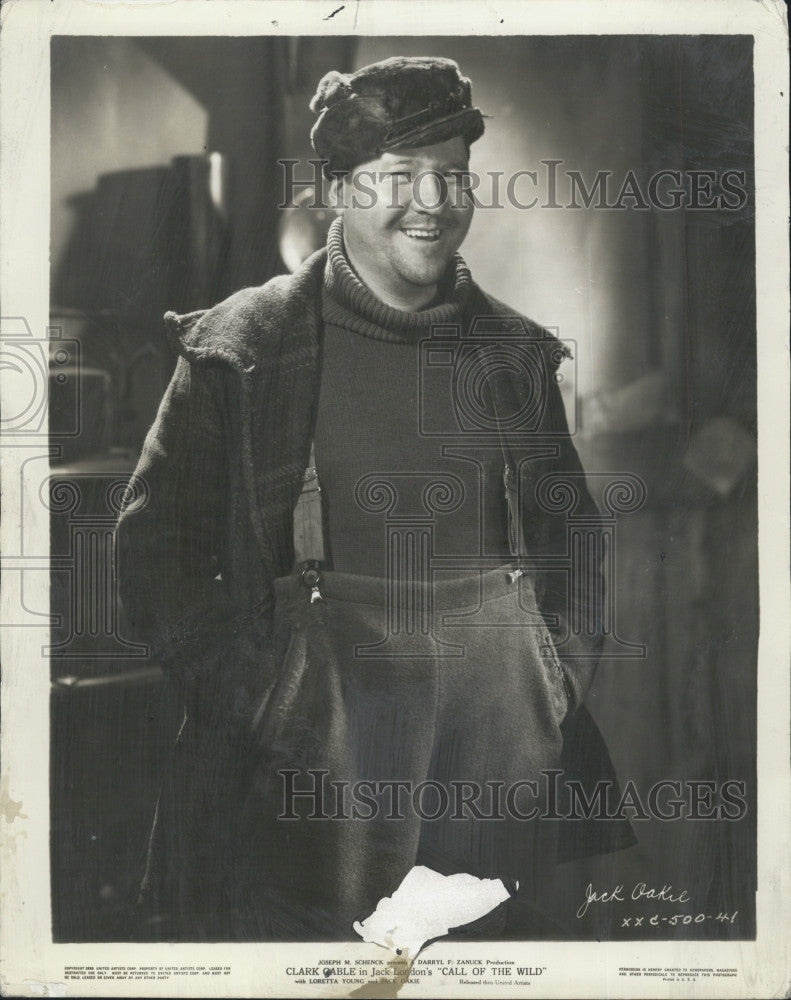 "1935 Press Photo Film ""Call of the Wild"" Actor Jack Oakie - Historic Images"