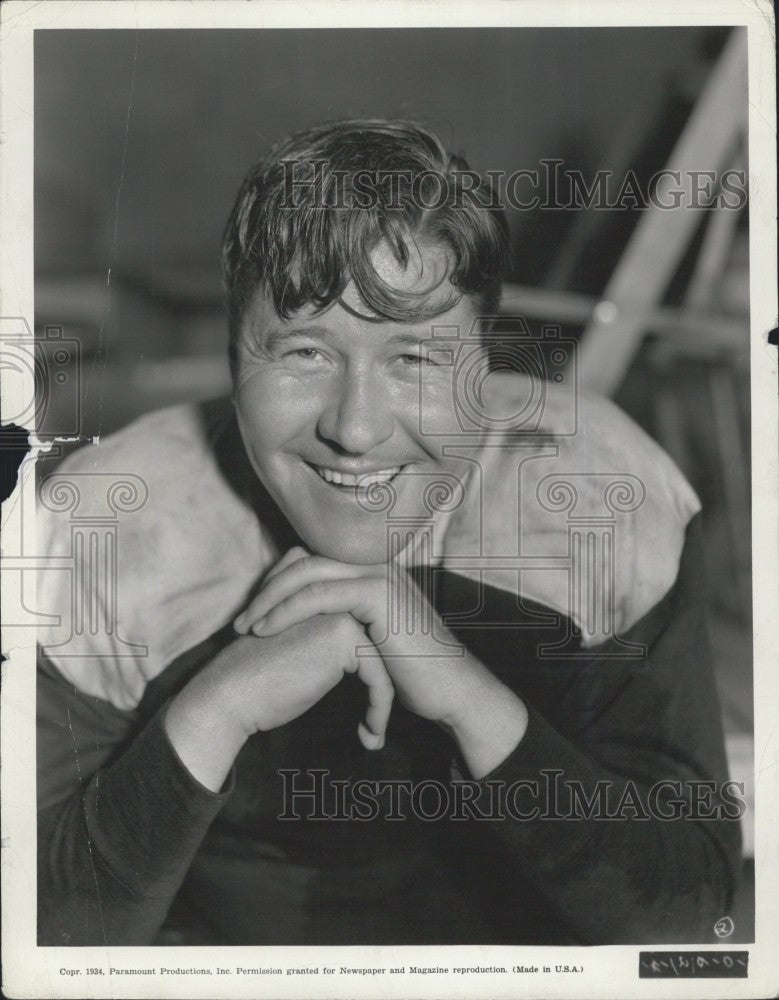 1935 Press Photo Actor Jack Oakie - Historic Images