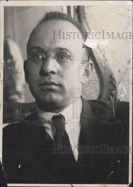 1921 Press Photo Arthur Burch Suspected Slayer of Belton Kennedy Insanity Plea - Historic Images