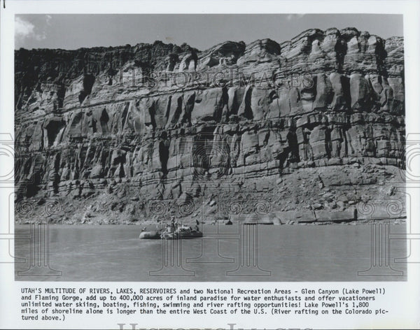 1986 Press Photo Glen Canyon  & Lake Powell area of Utah - Historic Images