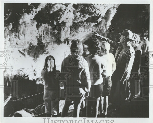 1966 Press Photo Hanging Gardens at Timpanogos Cave in Utah - Historic Images