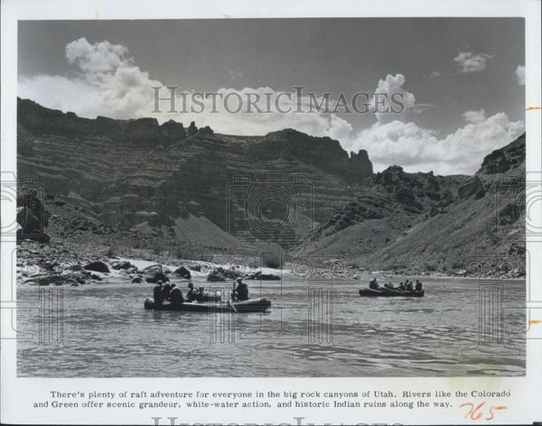 1975 Press Photo Bick Rock Canyons Utah Colorado & Green Rivers - Historic Images