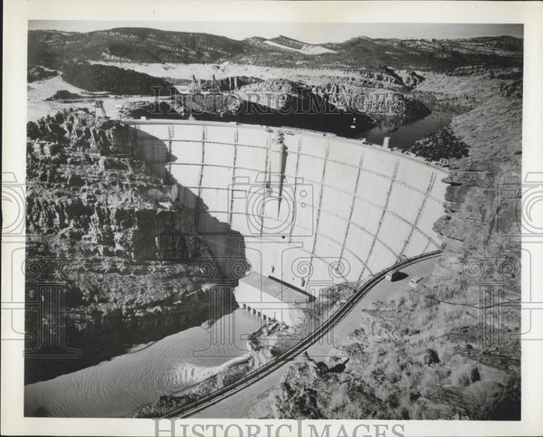 1963 Press Photo Dam in Utah - Historic Images