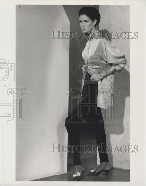Press Photo Diane Von Furstenberg. fashion designer clothing line - Historic Images