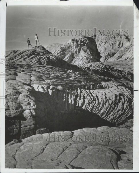 1966 Press Photo Dixie State Park in Utah , Snow Canyon area - Historic Images