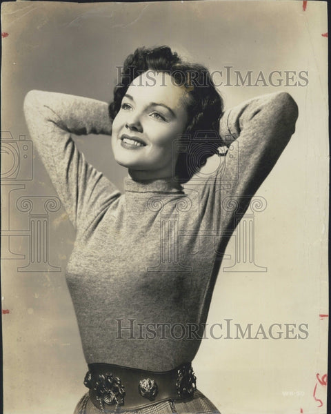1950 Press Photo American Film And Television Actress Wanda Hendrix - Historic Images