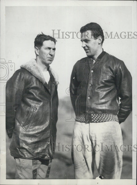 1931 Press Photo Harvard coach Eddie Casey & Barry Wood - Historic Images