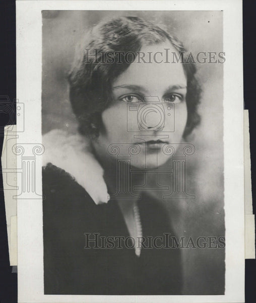 1929 Press Photo Mrs A W Jones nee Esther Gardner wife of tennis star - Historic Images