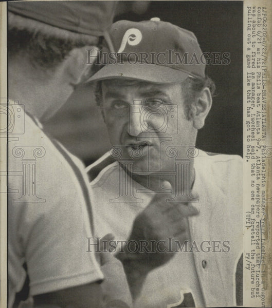 1972 Press Photo Philadelphilia Phlly manager Frank Lucchesi - Historic Images