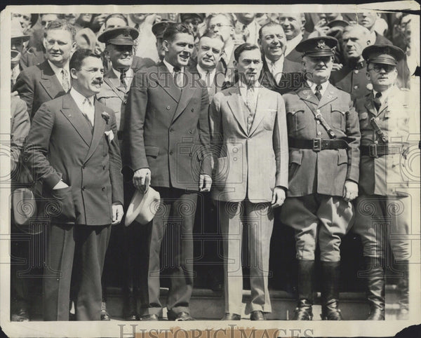 1926 Press Photo Gene Tunney & Mayor Walker of NY City - Historic Images