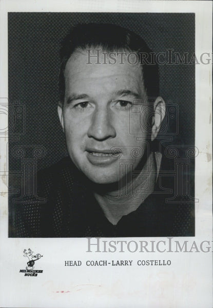 1974 Press Photo Milwaukee Bucks,  head coach Larry Costello - Historic Images