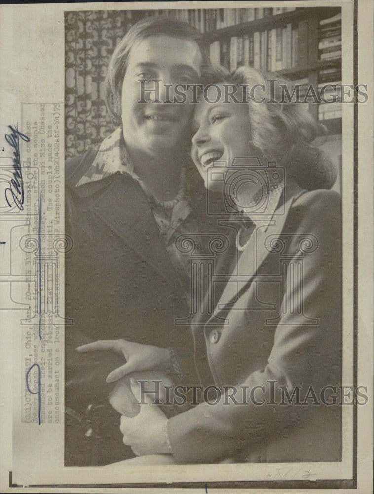 1975 Press Photo Red catcher Johnny Bench & Vicky Chesser - Historic Images