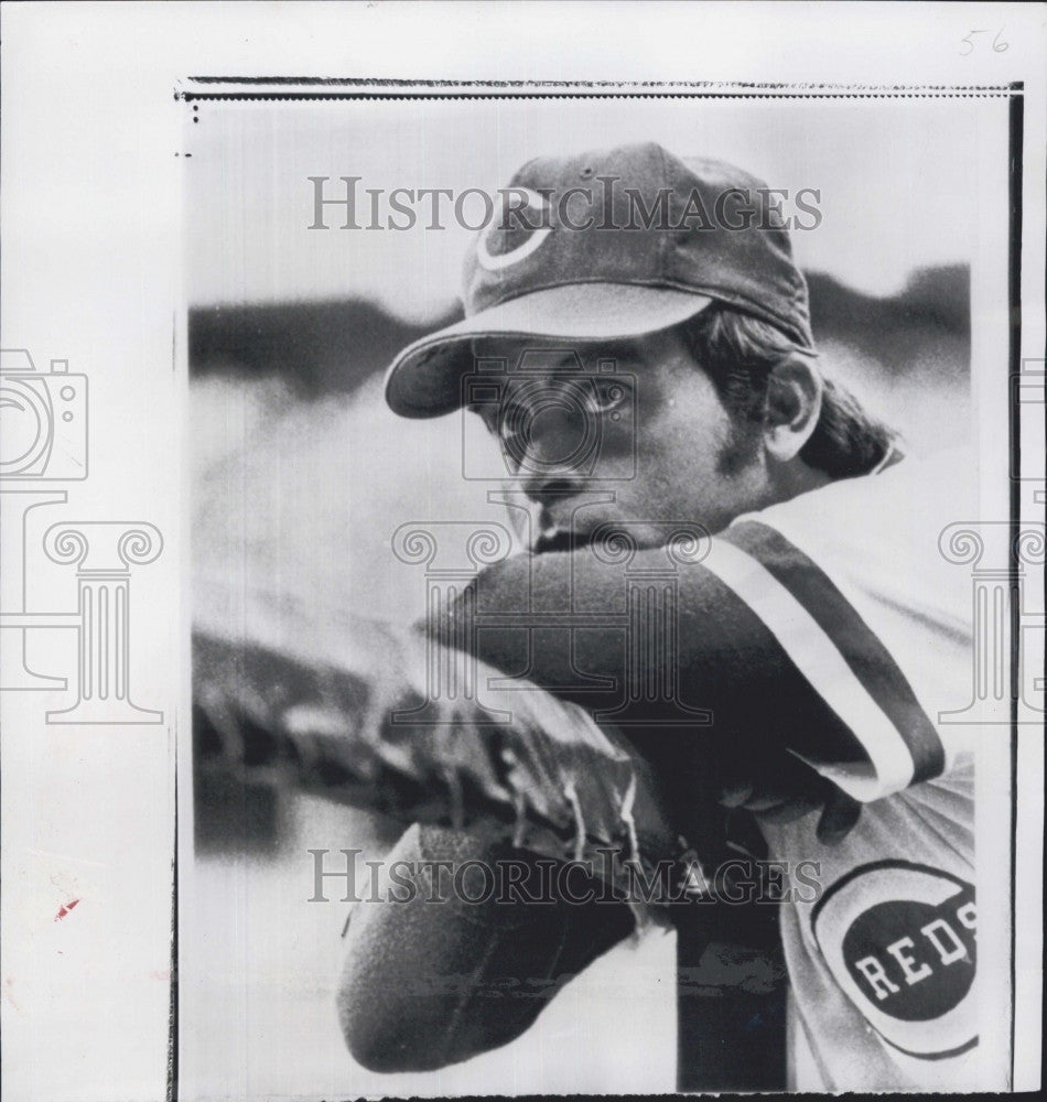 1974 Press Photo Dick Baney, pitcher for the Cincinnati Reds - Historic Images