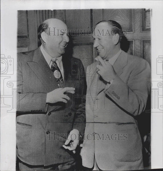 1952 Press Photo Tommy Heath, Bill Sweeney - Historic Images