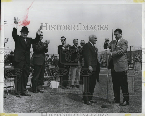 1961 Press Photo Government Dignitaries Tulsa Drillers AAA Baseball Season - Historic Images