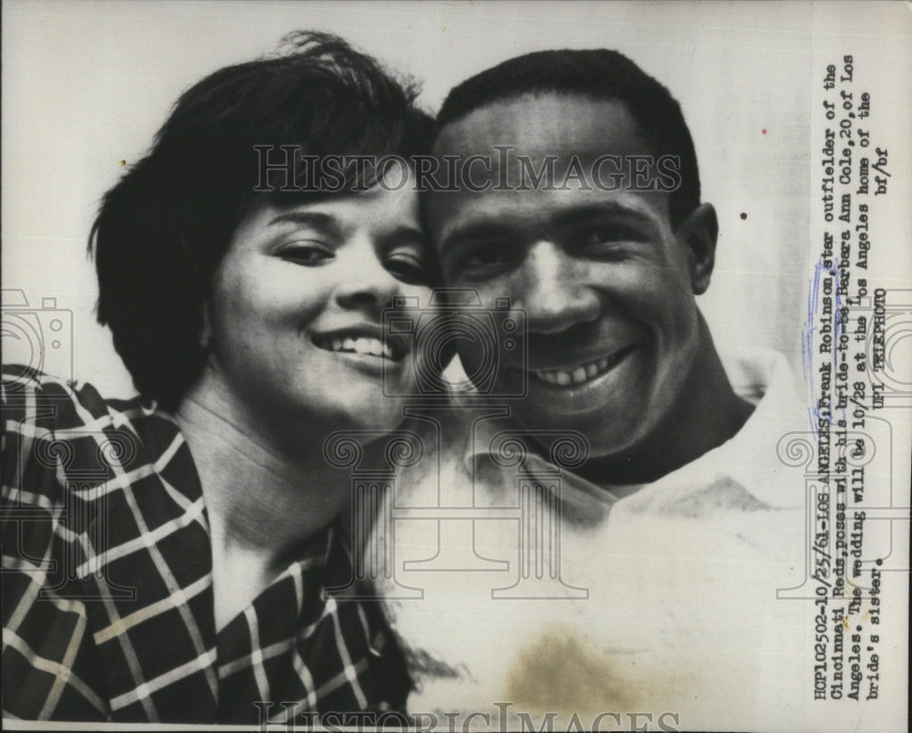 rsk page 244 historic images 1961 press photo baltimore slugger frank robinson fiancee barbara ann cole