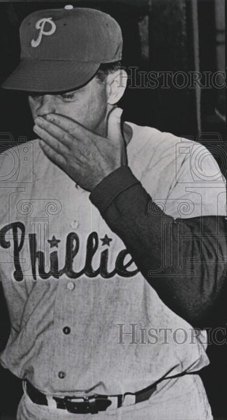 1964 Press Photo Gene Mauch Philadelphia Phillies Manager - Historic Images