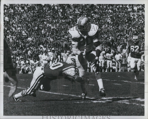Press Photo Marv Fleming, Miami Dolphins Football - Historic Images