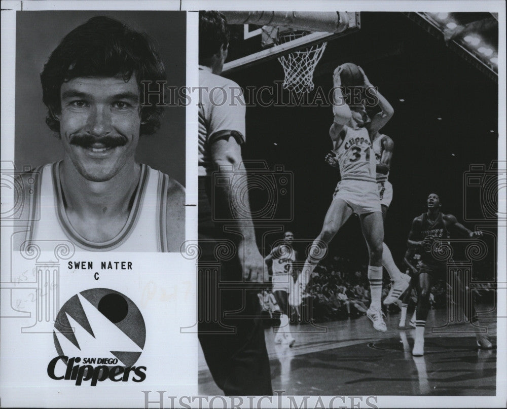 1979 Press Swen Nater San Diego Clippers Basketball Player