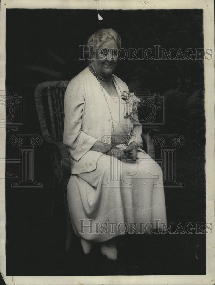 1934 Press Photo Mother of President Mrs Sara Delano Roosevelt on 80th birthday - Historic Images