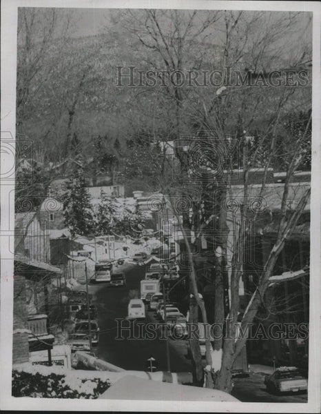 1980 Press Photo Crows St. of Lake Placid N.Y. hosted XIII Winter Olympic Games. - Historic Images