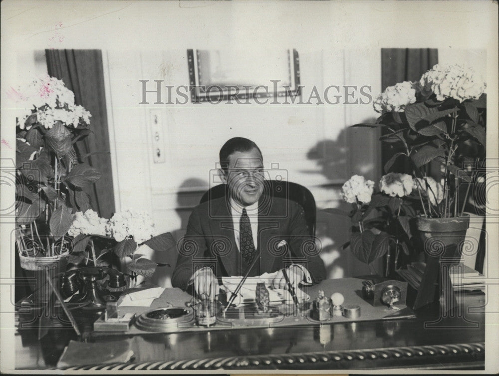 1931 Press Photo New York Mayor James J Walker In His Office - Historic Images