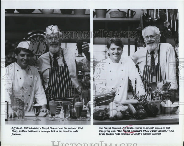 "Press Photo Jeff Smith, Chef Craig Wollam ""The Frugal Gourmet's Whole Family"" - Historic Images"