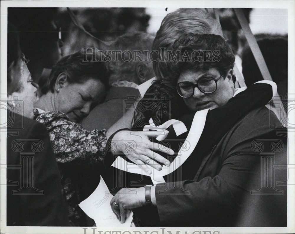 Press Photo Melissa Benoit Funeral Murdered - Historic Images