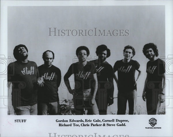 Press Photo Stuff: G. Edward, E. Gale, C. Dupree, R. Tee, C. Parker, S. Gadd - Historic Images