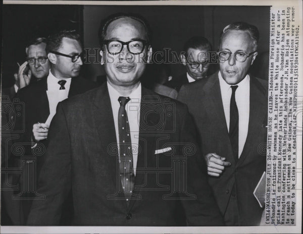 1962 Press Photo Indonesian Foreign Minister Subandrio - Historic Images