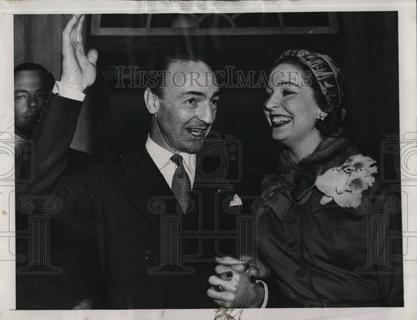 1950 Press Photo Actress Valerie Hobson Marries Jack Profumo - Historic Images