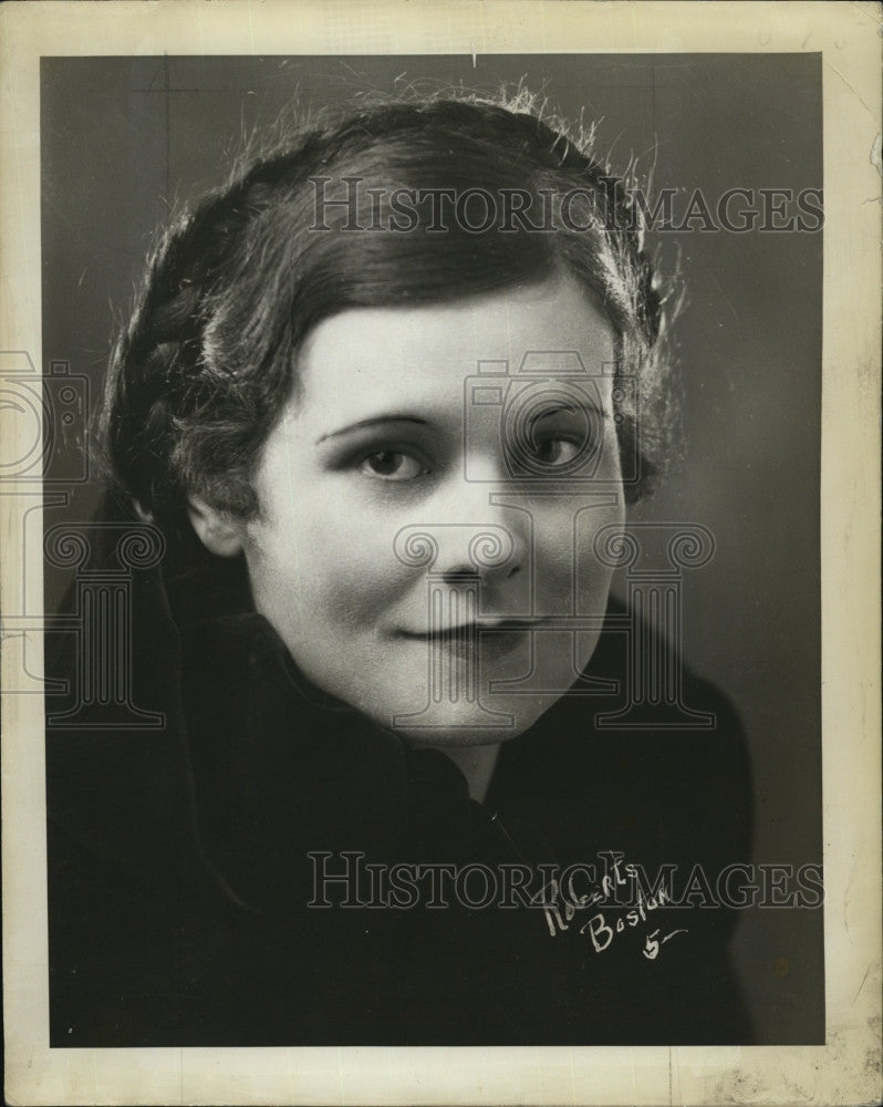 1934 Press Photo Mrs. Adrian O'Brian. - Historic Images