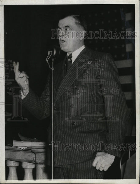 1936 Press Photo Lewis G Barrows Maine Governor Elect Landon Knox Clubs Address - Historic Images
