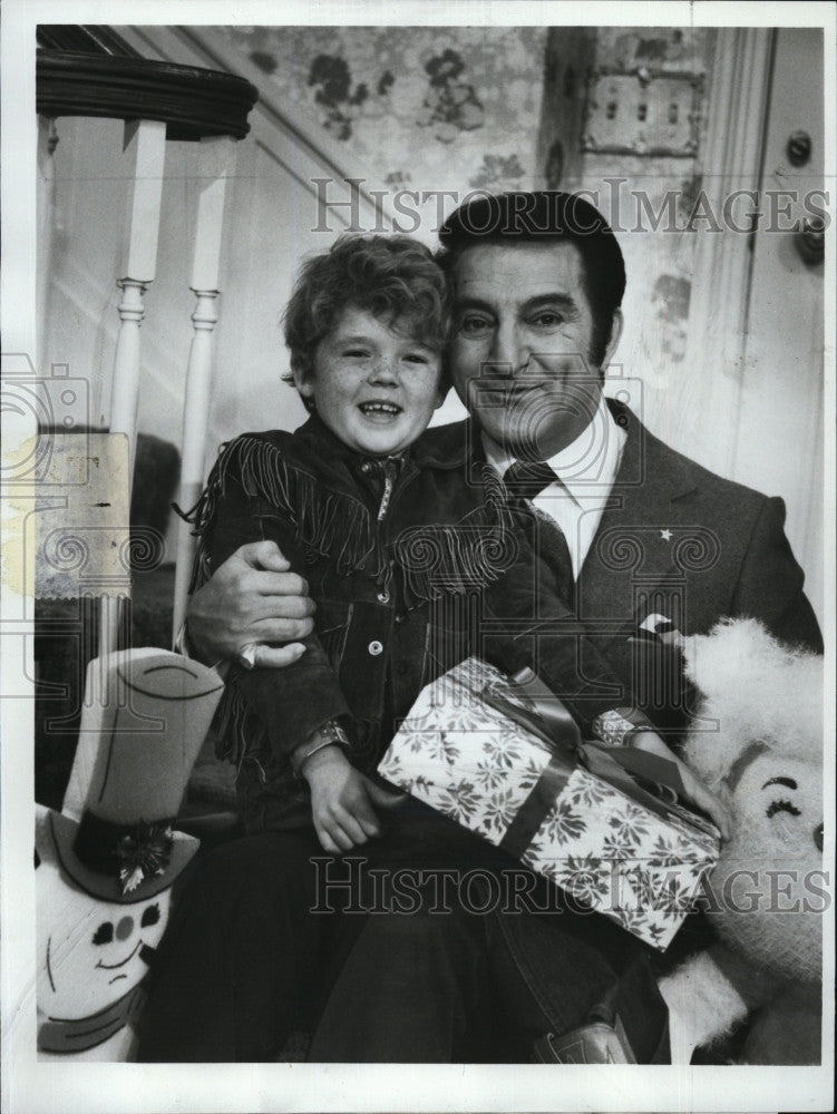1970 Press Photo Danny Thomas & Michael Hughes \
