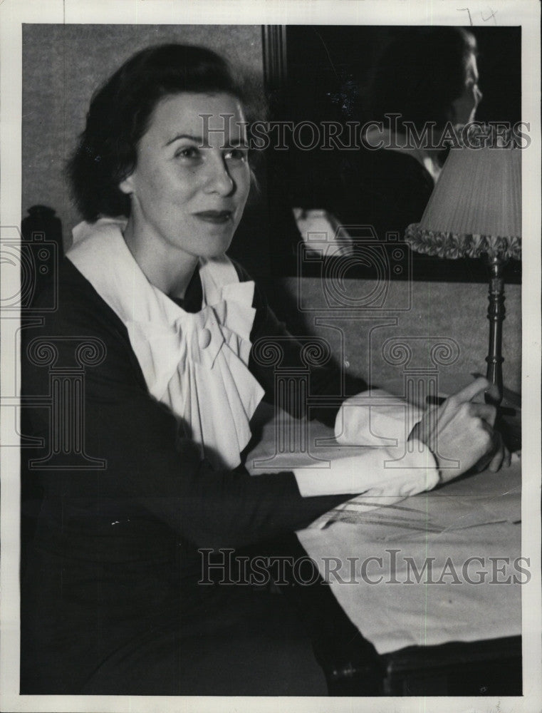 1934 Press Photo Mrs.Helen Louise Doke, wife of slayer Judson Doke. - Historic Images