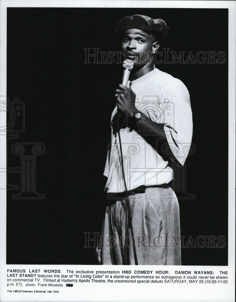 1990 Press Photo Damon Wayons On Hbo Comedy Hour