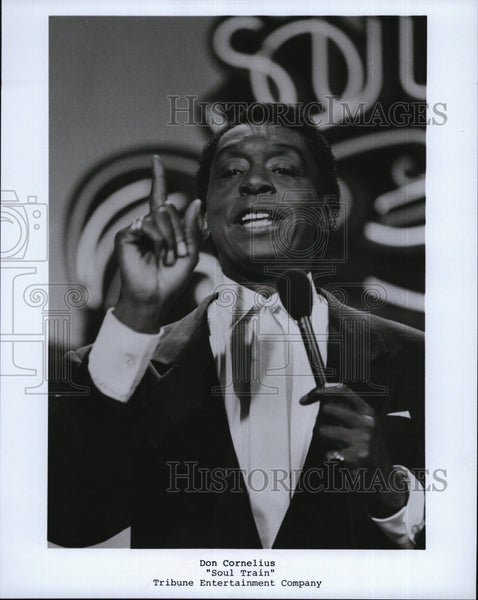 "Press Photo TV Host Don Cornelius in ""Soul Train Music Award"". - Historic Images"