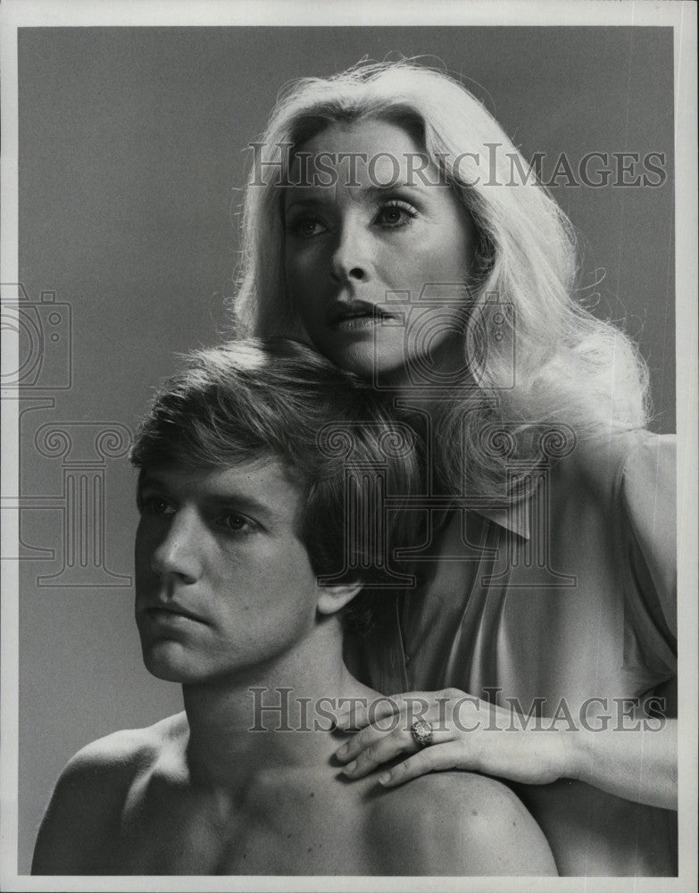 1979 Press Photo Susan Flannery and Jameson Parker in \
