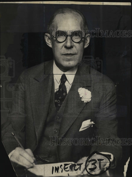 1940 Press Photo Mass politician, Frederic W. Cook - Historic Images