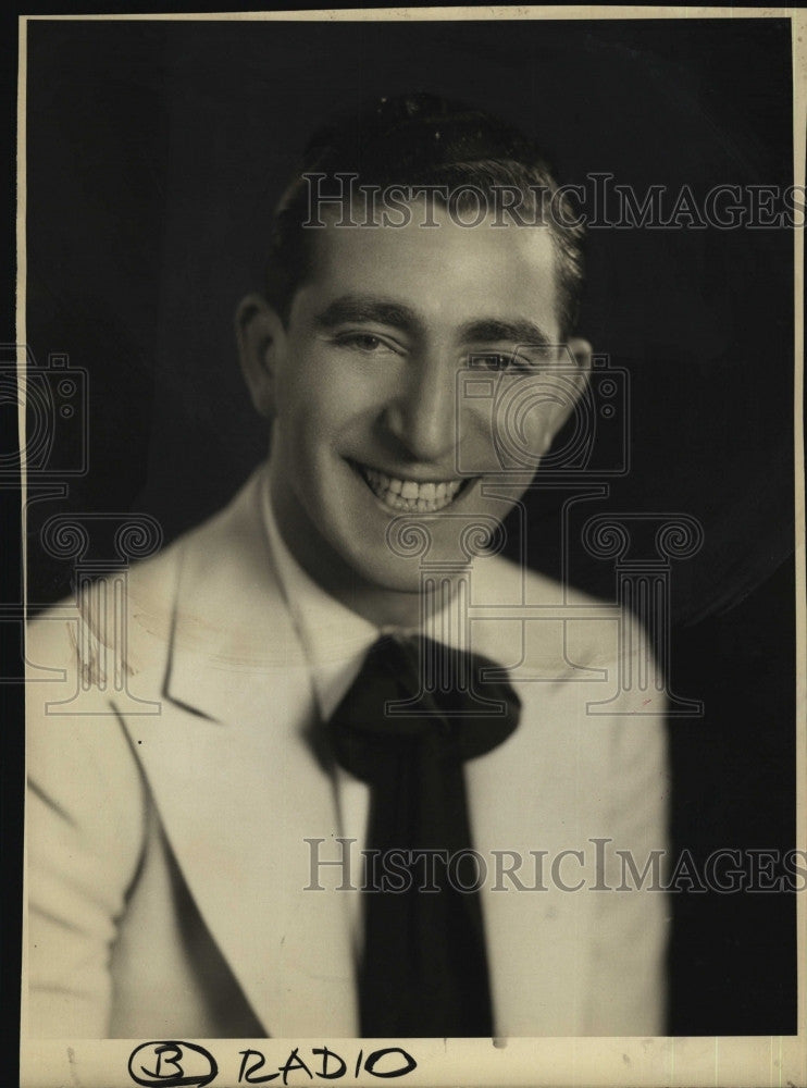 1931 Press Photo Musician, Benny Merroff to perform - Historic Images