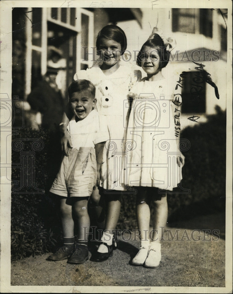 1934 Press Photo Bobby Costello and Siblings - Historic Images