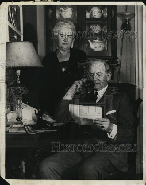 1930 Press Photo Senator Marcus Coolidge and wife - Historic Images