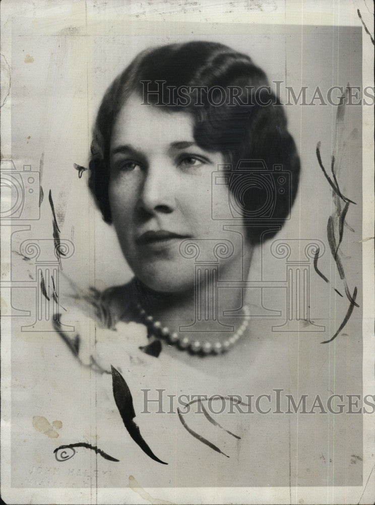 1935 Press Photo Florence Trumbull, daughter of Gov. and wife of John Coolidge - Historic Images