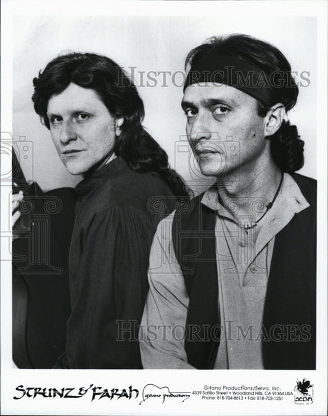 Press Photo Strunz & Farah of Gitano Productions - Historic Images