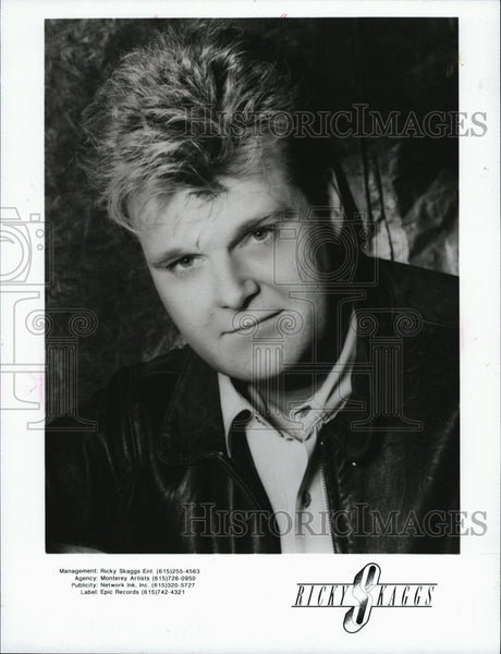 1920 Press Photo Ricky Skaggs Singer Song Artist Close-Up - Historic Images