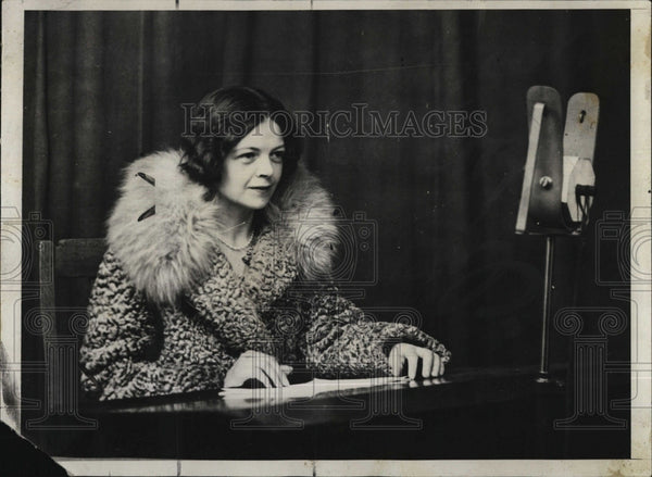 1929 Press Photo Lady Megan Arfon Lloyd George, British Politician - Historic Images