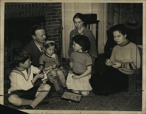 1932 Press Photo John J. Callan and his children - Historic Images