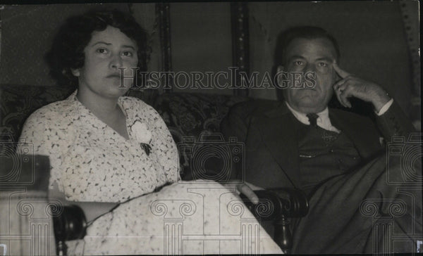 1932 Press Photo Mexican Ex Dictator Plutarco Elias Calles And Wife - Historic Images