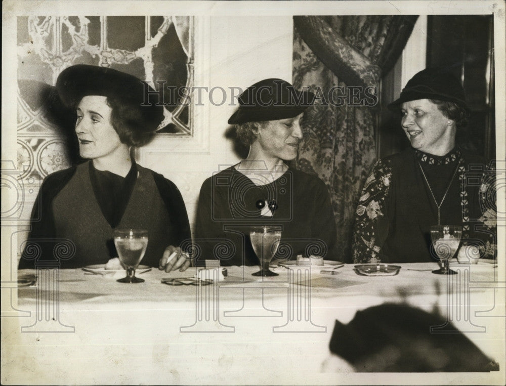 1935 Press Photo Birth Control Leagues, Mrs W Campbell,Dr I Gallani & Mrs Bailey - Historic Images