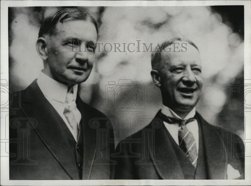1927 Press Photo VP Charles Dawes & NY Gov Al Smith - Historic Images